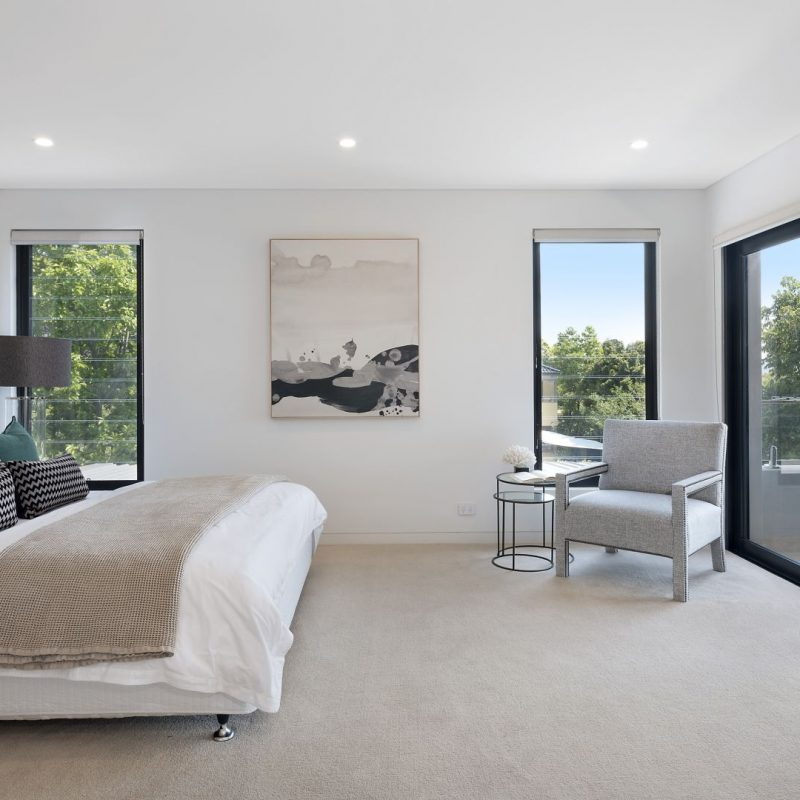 Bedroom with access on large balcony